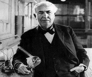 Thomas Edison: O g�nio � um por cento de inspira��o e noventa e nove por cento de transpira��o.